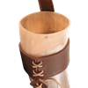 Ivar Norse Drinking Horn with Leather Holder