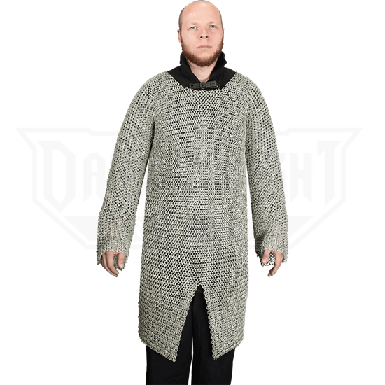 Flat Ring Wedge Riveted Chainmail Hauberk