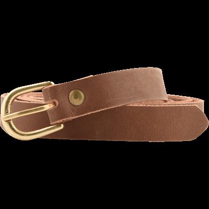 Medieval Leather Buckle Belt - Brown