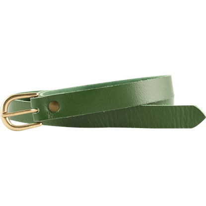 Medieval Leather Buckle Belt - Green