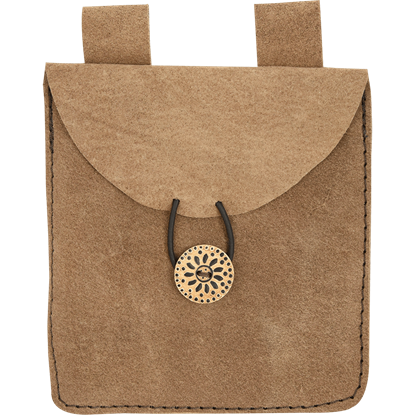 Small Brown Suede Pouch