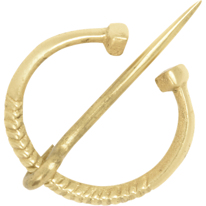 Small Brass Cloak Pin