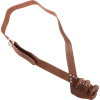 Triple Buckle Brown Leather Baldric