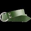 Leather Medieval Ring Belt - Green