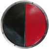 LARP Black and Red Round Shield