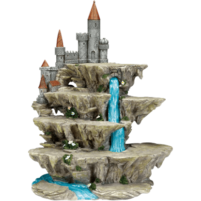 Cascading River Castle Display Stand for Mini Statues