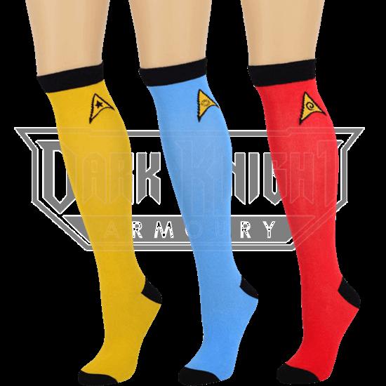 Star Trek Ladies Knee High Socks 3 Pack