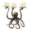 Octopus Pillar Trio Candelabra