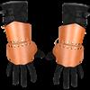 Warriors Leather Half Gauntlets