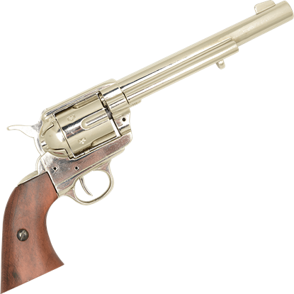 Nickel 45 Caliber Revolver USA, 1873
