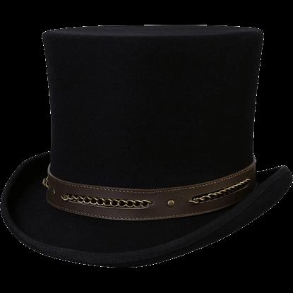 Chain Link Steampunk Top Hat