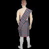 Men's Scottish Kilt with Scarf - Orange and Black - Small