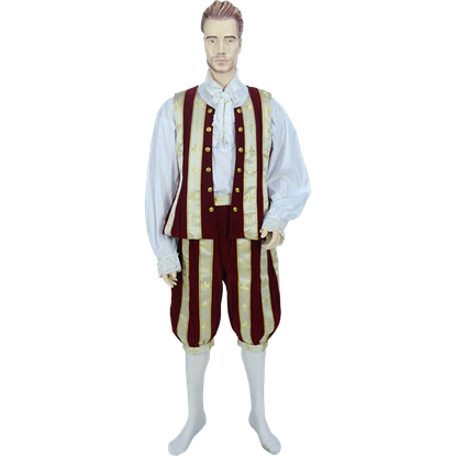 Red and Ivory Men's Royal Renaissance Set