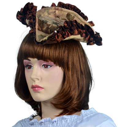 Antoinette Renaissance Hat - Cream and Brown