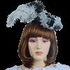 Antoinette Renaissance Hat - Black and Silver
