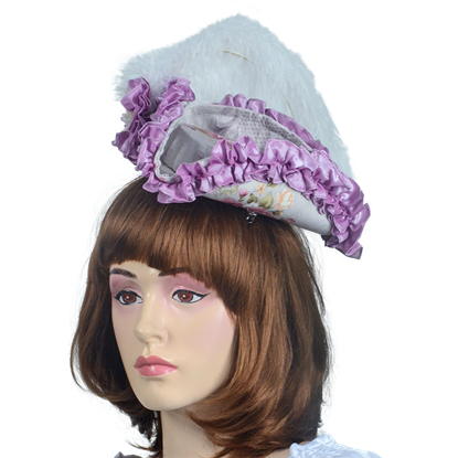 Antoinette Renaissance Hat - Purple and Pink