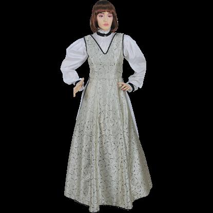 Renaissance V-Neck Dress with Chemise
