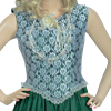 Lace Bodice Sleeveless Dress - Green
