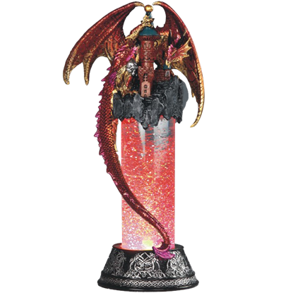 Red Dragon on Castle LED Snow Tube