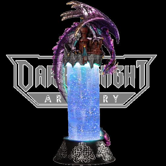 Purple Dragon on Castle LED Snow Tube