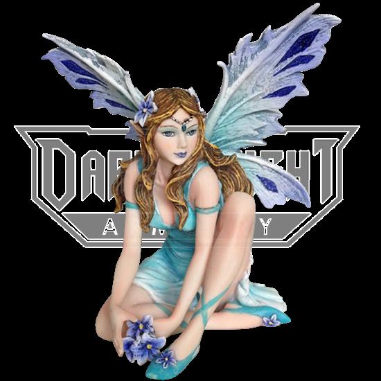 Blue Spring Ocean Fairy Statue