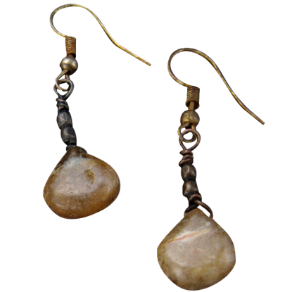 Agate Teardrop Stone Earrings