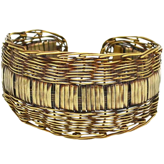Woven Brass Cuff Bracelet