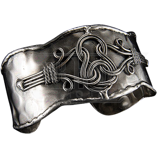 Loosened Knot Antique Silver Cuff Bracelet