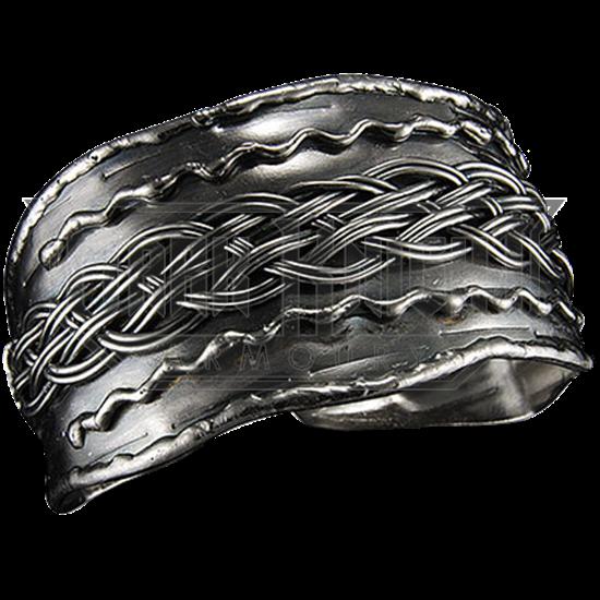 Plait Antique Silver Cuff Bracelet
