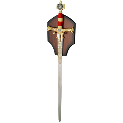 Golden and Red Solomon Sword