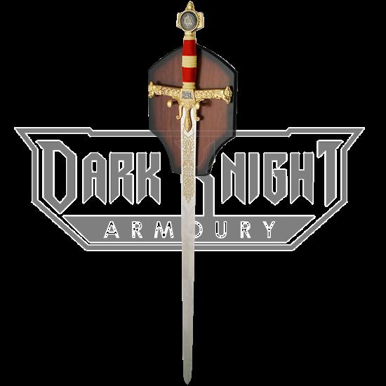 Golden and Red Solomon Sword