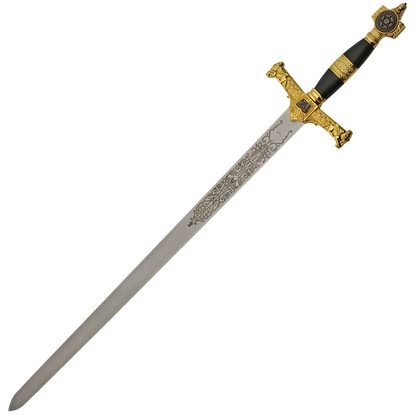 Black and Gold King Solomon Sword