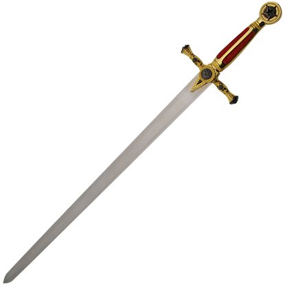Red and Gold Masonic Sword