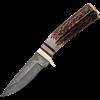 Whitetail Damascus Skinning Knife