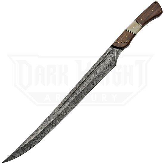 Curved Blade Damascus Sword