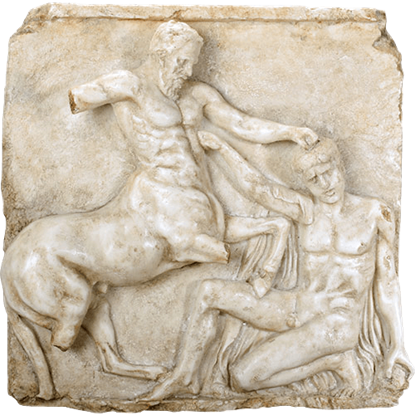 Centaur and Lapith in Mortal Combat Greek Wall Plaque