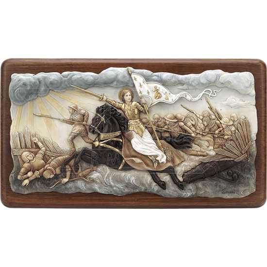 Joan of Arc Into Battle Wall Plaque