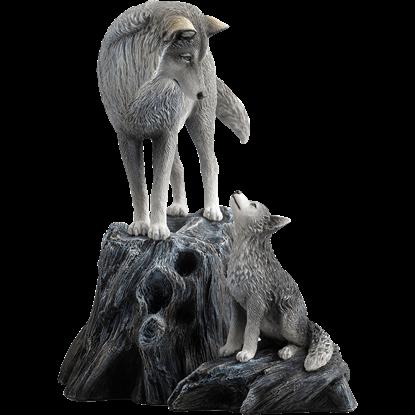 Guidance Wolf Statue