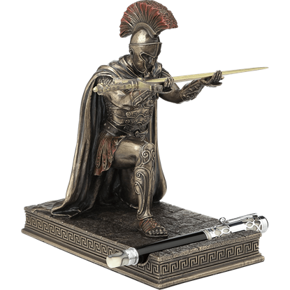 Roman Commander Pen Holder with Letter Opener Sword
