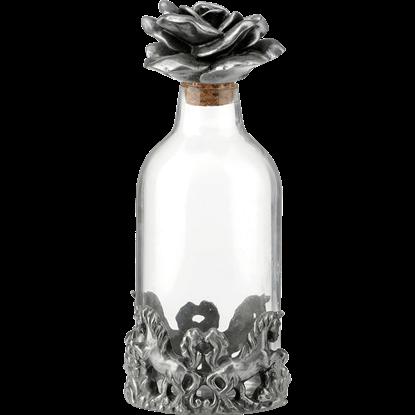 Unicorn and Rose Perfume Bottle