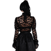 Goth Lace Long Sleeve Cameo Blouse