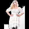 Cream Lace Peasant Blouse