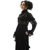 Goth Rose Long Sleeve Lace Blouse