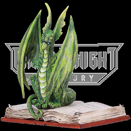 Green Dragon Scholar Statue