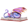 Book Wyrm Dragon Statue