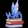 Stack of Books Dragon Statue