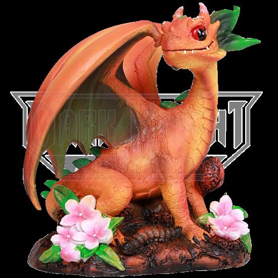 Peach Dragon Statue
