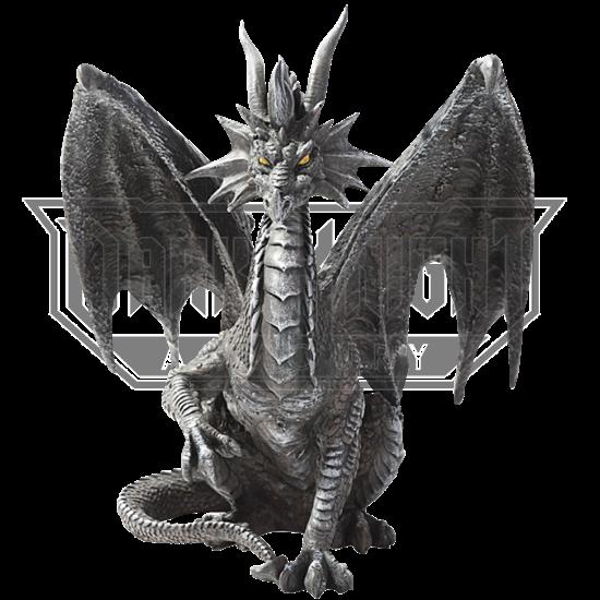 Black Checkmate Dragon Statue