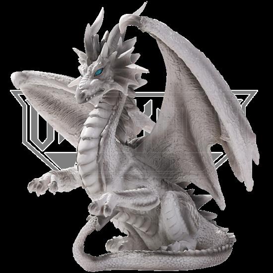 White Checkmate Dragon Statue