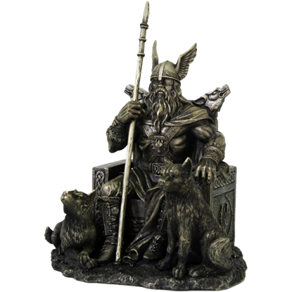Odin on Throne Statue